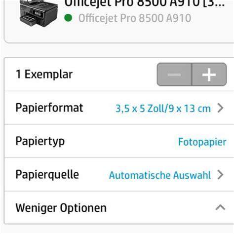 iphone hp airprint schwarzweiss option bitte um hilfe