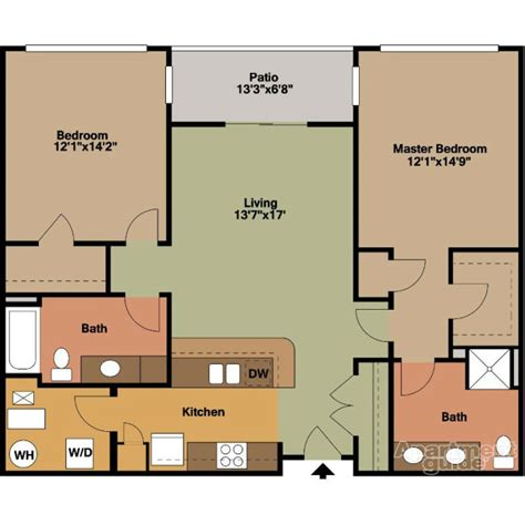 Two Bedroom Floor Plans by 2 Bedrooms Floor Plans Jackson Square
