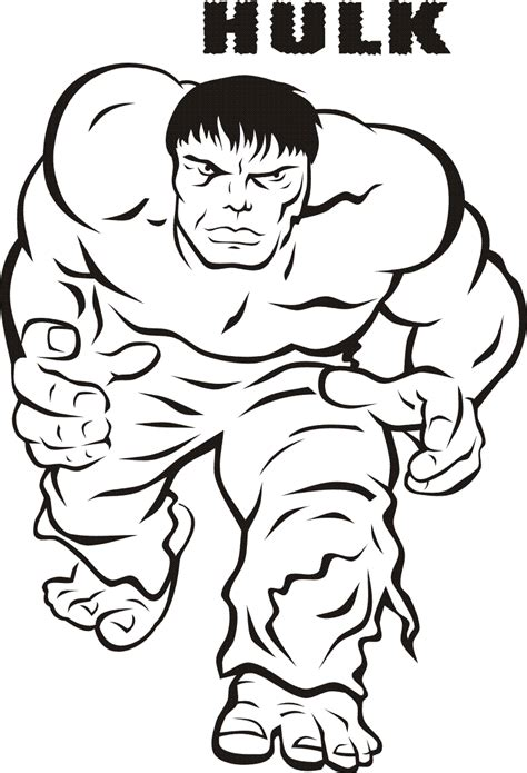 HD wallpapers coloring page of hulk