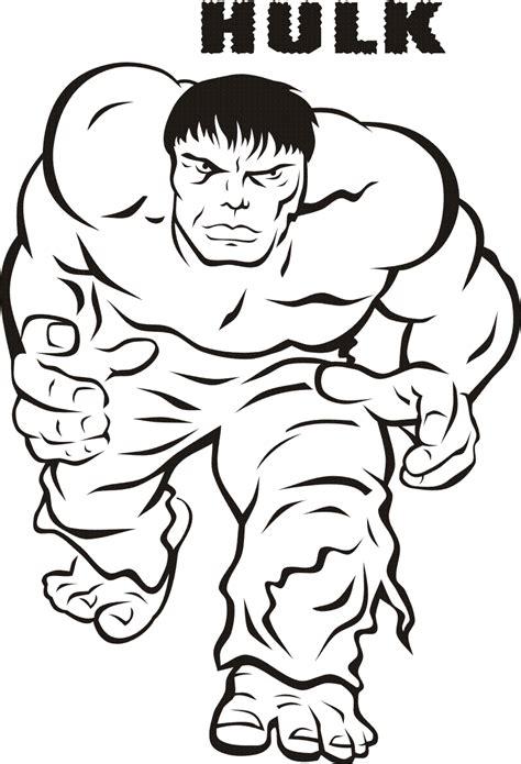 free coloring pages incredible hulk image