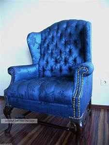 Sessel Chesterfield : wundersch ner chesterfield sessel royal blau mahagoni mit ~ Pilothousefishingboats.com Haus und Dekorationen