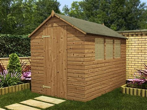Heavy Duty Apex Shed Large Pressure Treated Wooden Garden