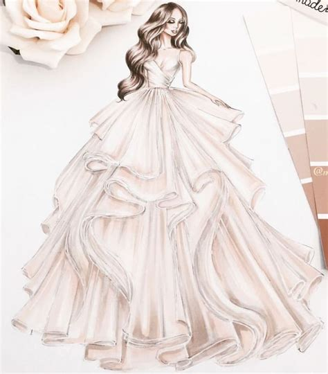 dress sketches ideas  pinterest dress drawing