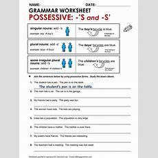 English Grammar Possessive 's And S' Wwwallthingsgrammarcompossessivesshtml Tefl