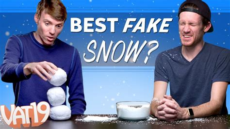 best fake snow and the best snow is
