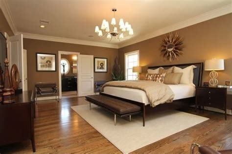 bedroom light colors master floors modern walls warm ceiling hardwood lights chocolate