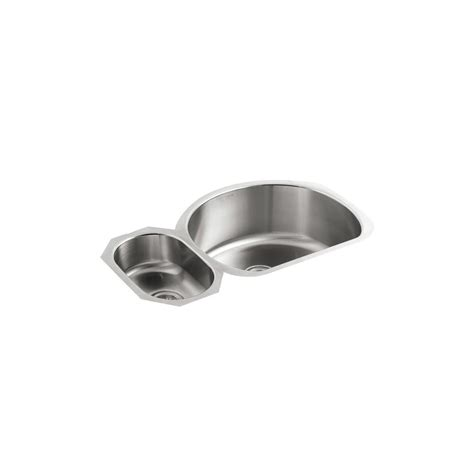 kohler stainless steel undermount kitchen sinks kohler undertone undermount stainless steel 35 in 9650