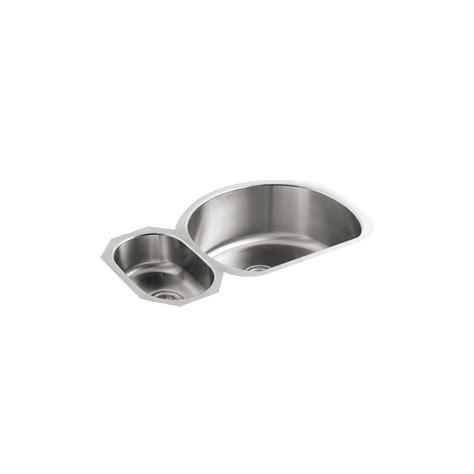 kohler stainless steel kitchen sinks undermount kohler undertone undermount stainless steel 35 in 9649