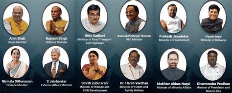 List Of Current Cabinet Ministers by Complete List Of Union Council Of Ministers 2019 Cabinet