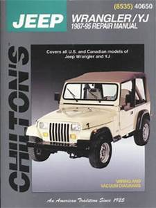Chilton Jeep Wrangler Yj 1987