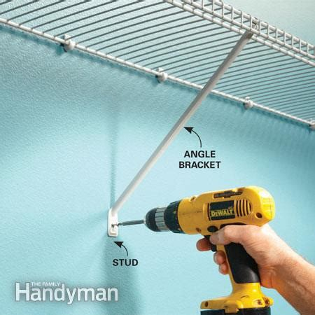 Installing Wire Shelving In Closets by Question About Installing Closet Wire Shelving Carpentry