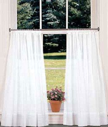 cotton voile looped tab tier curtains or white