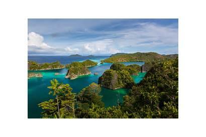 Indonesia Islands Raja Ampat Ocean Wallpapers Exotic