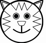 Face Coloring Pages Happy Cartoon Sad Cat Smiley Getcolorings Colorings Printable Dog Print Sheets Sheet Getdrawings Halloween Fresh sketch template