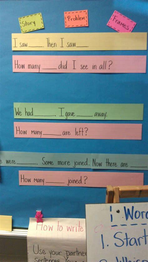story problem sentence frames math story problems