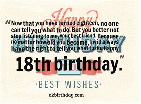 Now That You Have Turned Eighteen  Birthday Wishes & Quotes