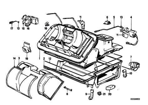 Bmw E30 Part Diagram by Original Parts For E30 M3 S14 Cabrio Heater And Air