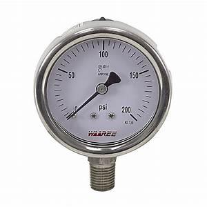 200 Psi 2 5 U0026quot  Pressure Gauge