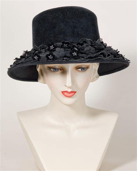 jev jamie velour finished felt black hats