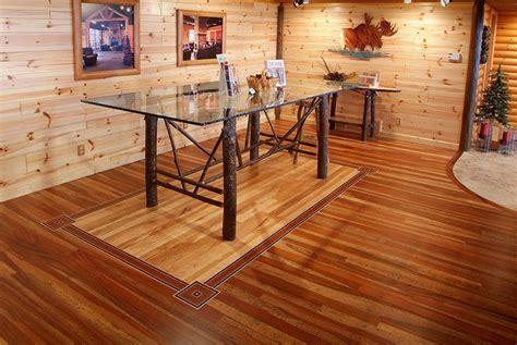 tongue groove mountain cherry hardwood floor  center