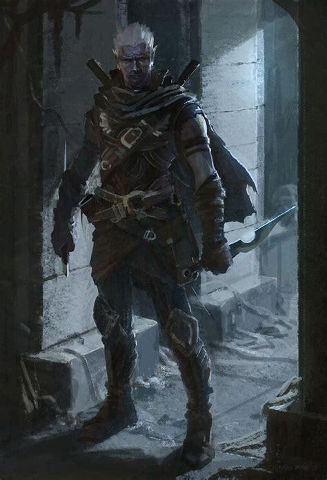 fantasy rogue elf dark character drow concept armor male dnd darkelf inspiration cool rogues rpg ragnarok deviantart general characters ranger