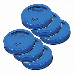 Ball 30020 Regular Mouth Design Series BPA Free Blue Lids with Bands, 6-Pack - eBay Balls and Bands