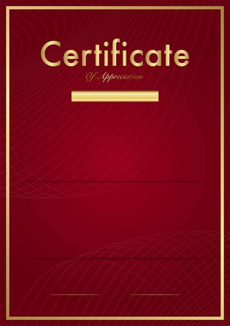 certificate template red png clip art image gallery