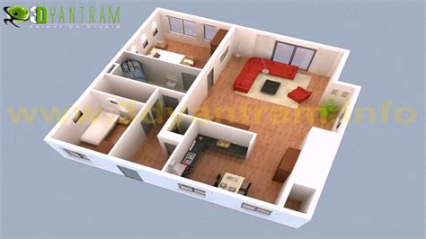 2 Bedroom Small House Plans 3d (see description) YouTube