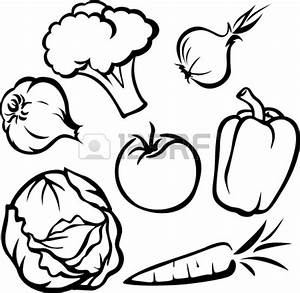 Fruits And Vegetables Black And White | Clipart Panda ...