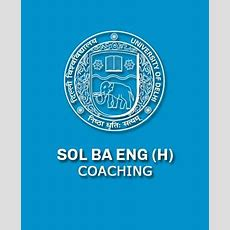 Sol Ba English Honors Coaching In Delhi