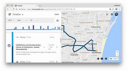 Timeline History Location Example Manage Maps Google