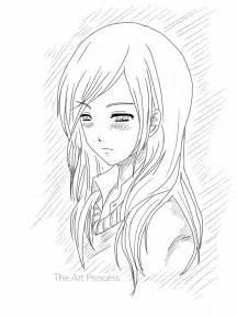 Sad Anime Girl Drawing