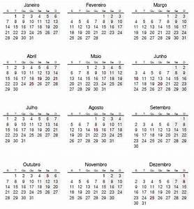 Calendário 2019 com feriados portugueses Terravista