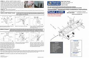 Model 1108r  Turnoverball  Gooseneck Hitch Installation