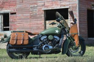 Custom Military Motorcycle Indian Scout