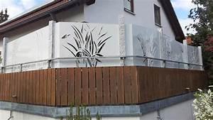 sichtschutz mit motiv ganz individuell hier vergleichen With französischer balkon mit garten bewässerungssysteme vergleich