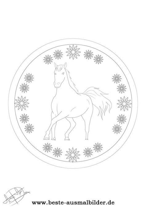 mandalas mit pferden ausmalbilder zum kostenlosen