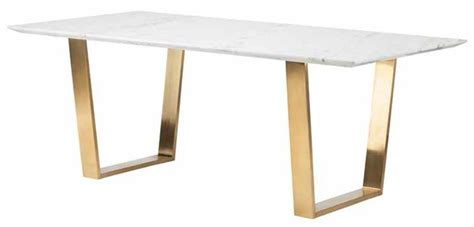 white desk with gold legs 79 quot uber modern office desk with white marble top