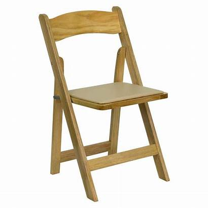 Folding Wooden Chairs Chair Wood Padded Natural