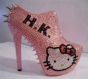 Shoes: hello kitty, pink, cute, high heel - Wheretoget