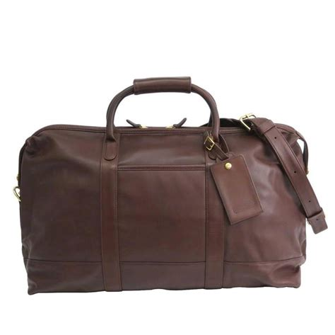 coach vintage brown leather mens carryall travel duffle bag  lock  key  stdibs