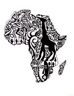 pin  doublepleasure  black ink crew african art