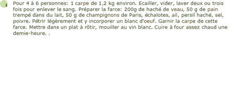 cuisiner une carpe recette carpe farcie facile et rapide