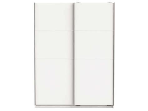armoire chambre adulte pas cher armoire 2 portes coulissantes fast 2 coloris blanc vente
