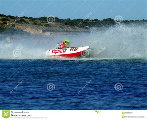 Power Boat editorial image. Image of blue, racing, boat ...