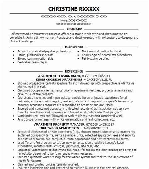 Leasing Consultant Resume Sle by Leasing Professional Resume Bijeefopijburg Nl