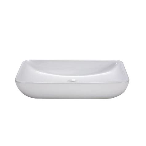 home depot white vessel sink ryvyr vessel sink in white cve237rc the home depot