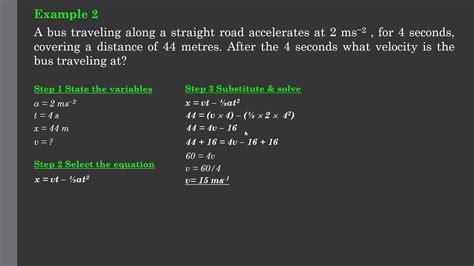 Uniform Acceleration Equations - YouTube