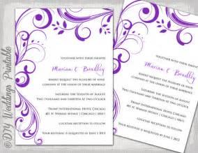 purple wedding invitation kits wedding invitation templates purple scroll
