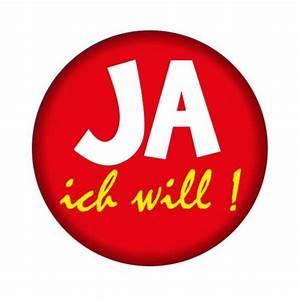 JGA Button: Ja, ich will PartySternchen Partyartikel Versand